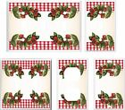 STRAWBERRIES RED GINGHAM PLAID  LIGHT SWITCH COVER PLATE # K2 U PICK PLATE SIZE