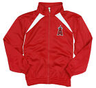 MLB Baseball Kids Los Angeles Angels Full Zip Tricot Team Jacket - Red