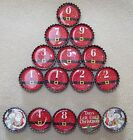 15pc Bottlecap Magnet Advent Countdown - Christmas Thanksgiving Easter - Fridge