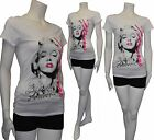 New & Cute Marilyn Monroe Forever Star w/Pink Letter Short Sleeve T-Shirt S/M/L