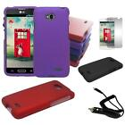 Phone Case For Verizon LG Optimus Exceed 2 Hard Cover Screen Guard Car Charger