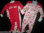 CARTER'S FOOTED CHRISTMAS PAJAMAS NWT 2 PAIRS IN SET SZ 18 MTH & 2T
