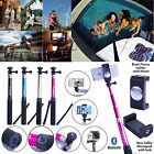 Aluminum bluetooth selfie Monopod Stick holder with Mirrorr for iPhone 6 5 4 4s