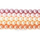 Swarovski 5810 Crystal Round Pearls Beads PINK Colors Mix
