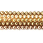 Swarovski 5810 Crystal Round Pearls Beads GOLD Colors Mix