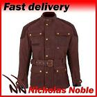SPADA STAFFY WAX OLIVE BROWN WATERPROOF CE ARMOURED CLASSIC MOTORCYCLE JACKET