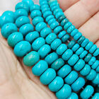 Stabilized Turquoise Gemstone Rondelle Spacer Loose Beads 16