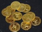 12 24 36 48 60 72 84 96 108 120 plastic pirate gold treasure coins FREE POST G42