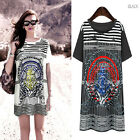 Summer Sexy Ladies Women Oversized Corsair Shoulder Loose T-Shirt Tops Blouse