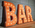 "21"" tall BAR Plug In Diner Pub Tavern Metal Vintage Style Marquee Light Up Sign"