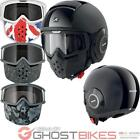 Shark Raw Dual Mat Motorcycle Helmet Plus Goggle & Mask Kit Open Face Custom Set
