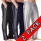 2 Pack Mens Cotton Jersey Bottoms Sizes M-3XL Nightwear Lounge Pants Pyjamas