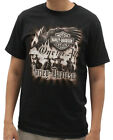 Harley-Davidson Mens Antique Eagle with Riders Black Short Sleeve T-Shirt