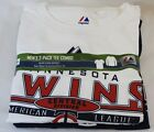 NEW Mens MAJESTIC Minnesota TWINS 3 in 1 Combo 2 Shirt Pack Long & Short Sleeve