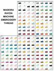 NEW Maderia Embroidery Rayon Sewing Thread Classic No.40 5000m Colours 1000-1175