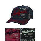 True Religion Jeans Men's Unisex Logo Trucker Hat Cap