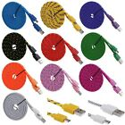 1/2/3M Fabric Braided Micro USB Data Sync Charger Cable Lead For Android Phones