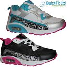 GIRLS RUNNING SPORTS PUMPS CASUAL TRAINERS BLACK SCHOOL SHOES ANKLE BOOTS SIZES