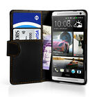 Wallet PU Leather Book Case Cover For HTC One Max T6 & Screen Protector