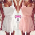 Womens Summer Casual Dresses Sleeveless Cocktail Short Mini Dress Beach Sundress