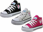 GIRLS KIDS TODDLER MINI MOJO HI TOPS CANVAS TRAINERS SHOES BOOTS SIZES 7 - 2 UK