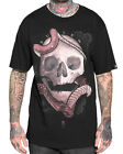 Sullen Clothing Kokaris Mens T Shirt Black Skull Snake Tattoo Goth Tee