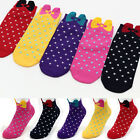 Ribbon Dot Fashion Comfort Socks Made in Korea Ankle Multi-Colored Casual Socks