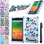 For ZTE ZMAX Z970 TUFF KICKSTAND HYBRID Rubber HARD Case Phone Cover + Pen