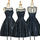 Short Sequins Homecoming Bridesmaid Evening Semi Formal Prom Party Gowns Dresses