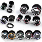 "6g-1/2"" Acrylic Leopard Flared Screw Ear Tunnels Plugs Expander Stretcher Earlet"