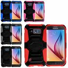 For Samsung Galaxy S6 Active Heavy Duty Armor Style Turbo Case Cover w/ Holster