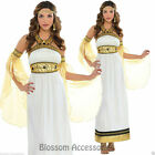 K69 Ladies Toga Cleopatra Egyptian Greek Goddess Roman Fancy Dress Up Costume