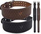 """RDX 4"""" Leather Weight Lifting Belt Power Gym Back Support Bodybuildig Training T"""