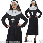 CL430 Womens Adult Nun Costume Religious Sister Outfit Fancy Party Hens Dress Up