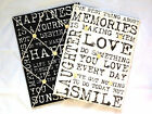 Vintage Quote Padded Notice Pin Fabric Memo Board Black Or White Writing Kitchen