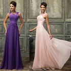 PINK PURPLE Long Cocktail Party Formal Evening Ball Prom Dresses Wedding Gowns