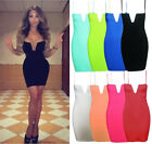 MULTI COLOR Sexy Women Summer Cocktail Party Evening Bodycon Bandage Mini Dress