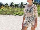 New Summer Women Sexy Bathing Suit Crochet Bikini Swimwear Cover Up Beach Dress