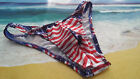 Men Swimsuit Patriotic Print thong half quarter Rio or Full  Handmade USA Custom