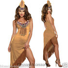 K74 Ladies Pocahontas Native American Indian Wild West Fancy Dress Party Costume