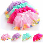 Infant Toddler Baby Girls Lace Bow Flower Skirt Tutu Party Ballet Dance Dress
