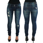 Rampage Chloe Women's Boyfriend Skinny Denim Jeans Destroyed