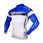 Sobike - NENK COOREE Cycling Long Jersey Long Sleeves Blue White
