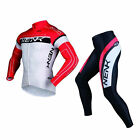 SOBIKE NENK Cycling Suits-COOREE Long Jersey Long Sleeve & Tights Pants Red