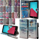 For LG G4 H815 F500 VS986 H810 Flip Wallet LEATHER POUCH Case Phone Cover + Pen