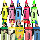 Crayola Crayon Mens Ladies Fancy Dress Fun Book Week Adult Halloween Costume