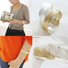 Korean Punk Simple Stylish Alloy Twist Weaving Bangle Bracelet Gift 2 Colors