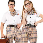 High School Girl Boy Fancy Dress Nerd Uniform Costume Mens Ladies Geek Outfit