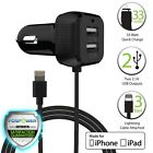 Fospower [MFI Certified] 6.6A Lightning Dual USB Car Charger for Apple & Android