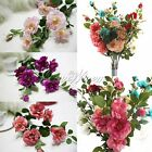 Wedding Bouquet Artificial Lifelike Rose Flowers for Bridal Real Touch Decor